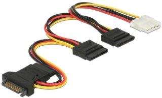 Power Cable SATA 15 pin plug > 3 x SATA receptacle + 1 x Molex 4 pin f 60171