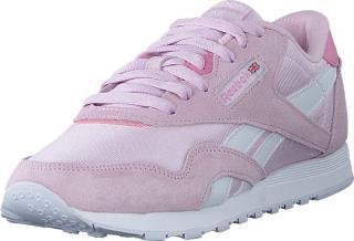 Reebok Classic Cl Nylon Pixel Pink/white/jasmine Pink, Sko, Sneakers og Treningssko, Sneakers, Hvit, Dame, 41