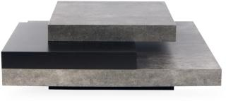 TEMAHOME Karyo Sofabord 90 cm - Svart/Betong