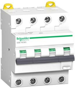 Schneider Acti9 ic60 rcbo 4p 32a 30ma c 6ka a A9D67432