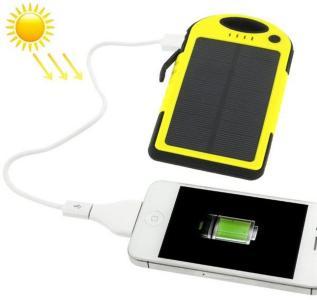 Solcellelader 5000mAh  iPhone / Samsung Galaxy / Sony / HTC / LG