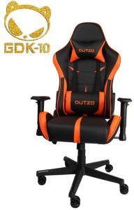 DUTZO E-Sport V2 - Black/Orange Gamingstol - Svart/Oransje - PU-lær - Opptil 120 kg ESPORTV2-BO