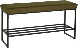 Vito - Benk med skohylle Grønn 101x34x51cm Mdf, Metall