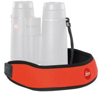 Leica bærerem til kikkerter, oransje I neopren