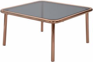 Andrarum Dusk Sofabord 75 cm - Glass/Kobber