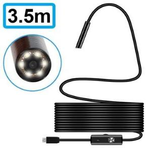 Vanntett 7mm MicroUSB Inspeksjonskamera - IP67 - 3.5m