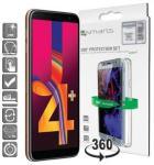 Samsung Galaxy J4+ 4smarts 360 Beskyttelsessett - Gjennomsiktig