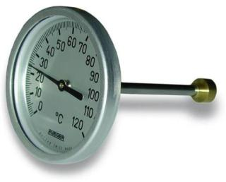 Skive termometer type TC 65 mm 0-120°C.