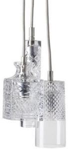 Ebb & Flow Bates, jeeves, sybil taklampe - Crystal, sølv