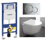 Laufen Pro Toalettpakke Inkl. sete/lokk, sisterne og trykkplate.