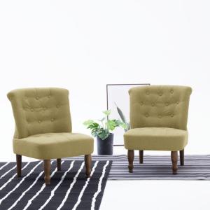 vidaXL Fransk stol grønn stoff