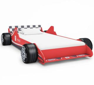 vidaXL Barneseng racerbil 90x200 cm rød