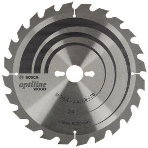 Bosch sirkelsagblad optiline ø254x30mm 24t