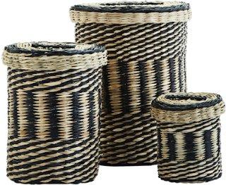 Madam Stoltz Wire baskets w/ handles