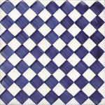 Flis Höganäs Pombalino Chiado Blank Blå/Hvit 15x15