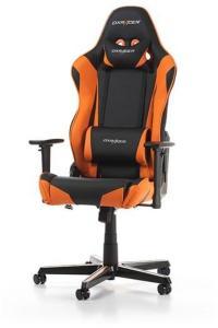 DXRacer RACING R0-NO Gamingstol - Svart/Oransje - PU-lær - Opptil 100 kg GC-R0-NO-Z1