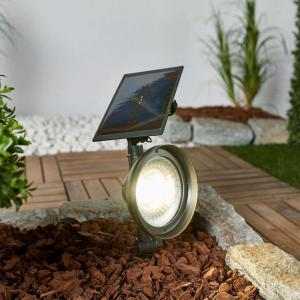 LED-spot Riley med solcellepanel