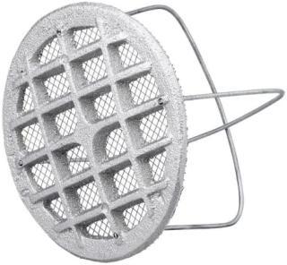 Duka ventilrist - Ø 77 mm, støpt i aluminium