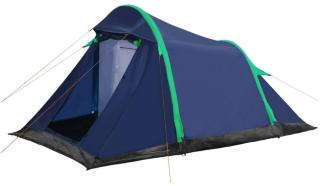 vidaXL Campingtelt oppblåsbare bjelker 320x170x150/110 cm blå og grønn