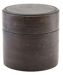 House Doctor Oppbevaringseske med Lokk Mørkebrun Ø18 cm