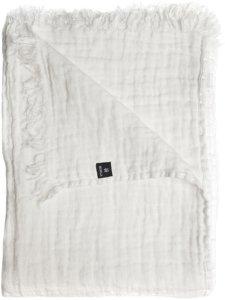 Himla Pledd Hannelin i vasket hellin 130x170 cm Unisex Hvit