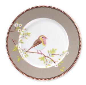 Frokost asjett Pip early bird Frokost 21cm.Khaki porselen
