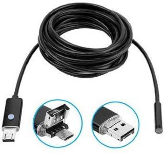 Vanntett AN99 8mm USB-kamera til Android og PC - 10m - Svart