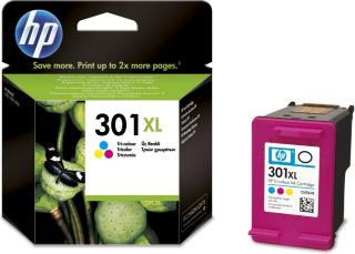 HP Blekkpatron No.301XL 3-farge Høykapasitet (8ml) CH564EE (Kan sendes i brev)