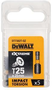 Dewalt Bits torx t25 25mm torsion 5 stk dt7382t