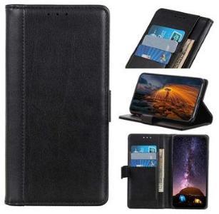 Premium Samsung Galaxy A30, Galaxy A20 Lommebok-deksel med Stativ - Svart