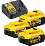 Batteri DeWALT DCB183 18 V 5,0 Ah 3 + lader DCB115