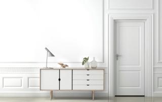Andersen S6 Sideboard Såpet Eik / Hvit