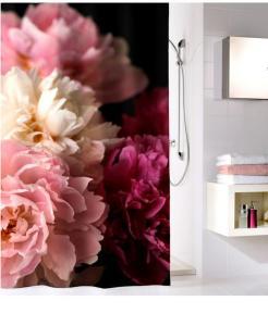 Kleine Wolke Dusjforheng -Rosemarie- Kleine Wolke rosa/hvit/vinrød