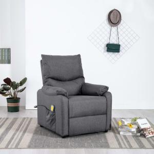 Massasjestol i stoff -mørk grå