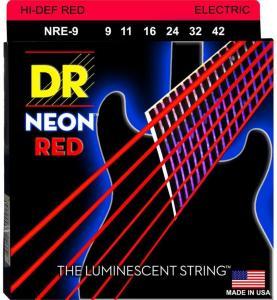DR Strings NRE-9 Neon Red (009-042) Light