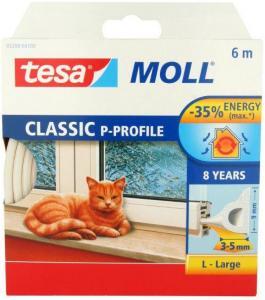 Tesa P-list 55703-00100-00 Tetningstape EPDM, 100 m, 9 mm x 5.5 mm Hvit