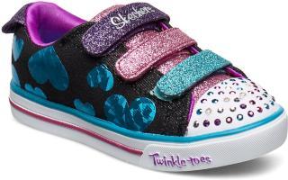 Skechers Girls Sparkle Lite - Flutter Fab Sneakers Sko Multi/mønstret Skechers
