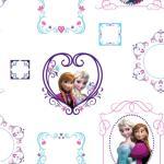 Kids at Home Veggpanel Frozen Frames hvit 70-539