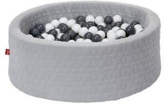 knorr® leker ballbad mykt - Koselig geo grått inkludert 300 baller grått / krem