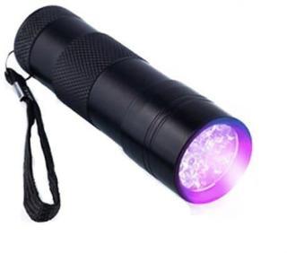 9x UV LED | Praktisk& Liten UV Lommelykt