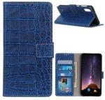 Krokodille Series Samsung Galaxy A10 Lommebok-deksel - Blå