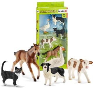 Schleich 5 bondegårdsdyr i sett
