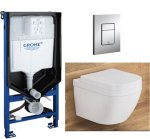 Grohe Euro Toalettpakke Inkl. sete/lokk, sisterne og trykkplate.