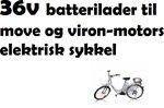 0 36V Batteri lader til Move og V-Motors El sykkel