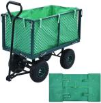 vidaXL Hagevognduk grønn stoff