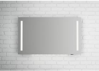 Linn Bad Fosse speil m/LED-lys 120x70 cm, med dimmer og stikkontakt