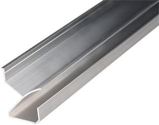 Plastmo List til Dryppstop 4000 mm aluminium