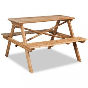 Piknikbord bambus 120x120x78 cm