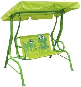vidaXL Barnehuskesete grønn