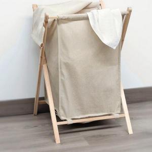 Sammenleggbar skittentøyskurv (beige)